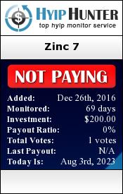 hyiphunter.biz - hyip zinc 7