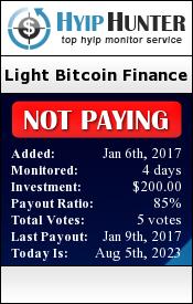 hyiphunter.biz - hyip light bitcoin finance