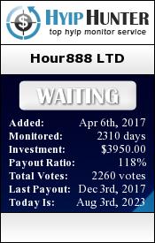 hyiphunter.biz - hyip hour888 ltd